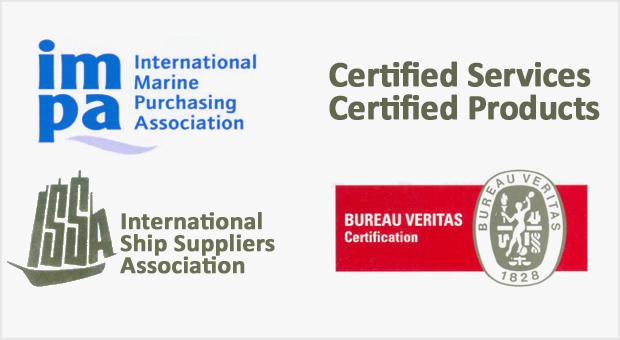 ISSA, IMPA, Bureau Veritas - Certificates