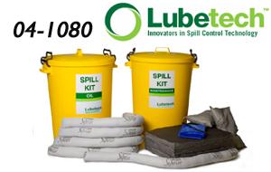 120 litre Superior Chemical Spill Kit - Mobile 2 Wheeled Bin